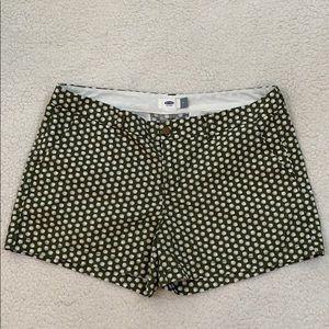 Old Navy Deep Green Sea Shell Pattern Shorts Sz 12